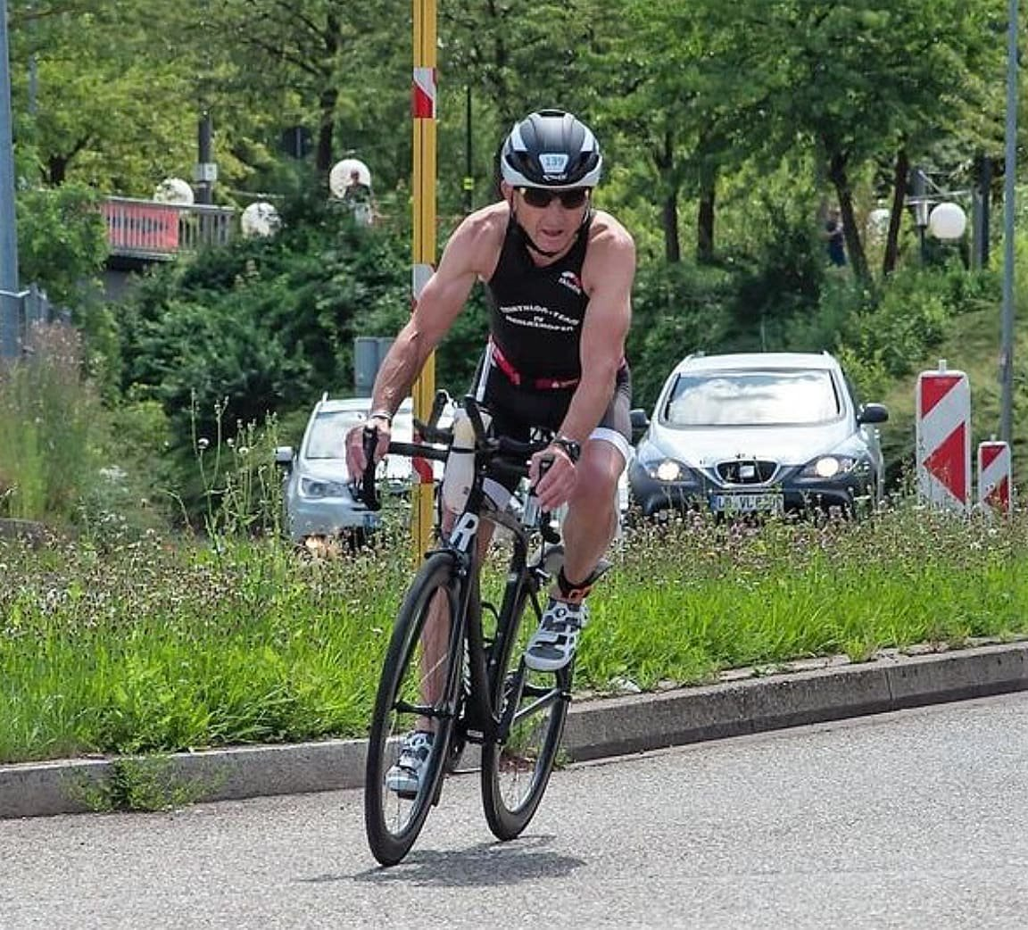 Günther Längst auf der Radstrecke