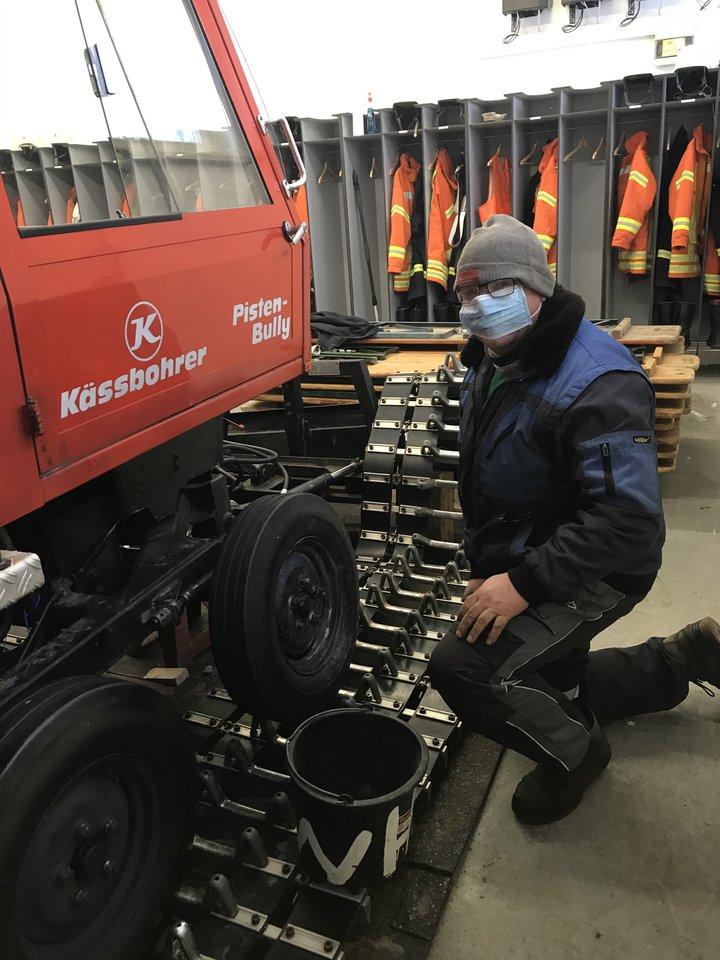 Anton Herz von der Firma Harscher im Einsatz
