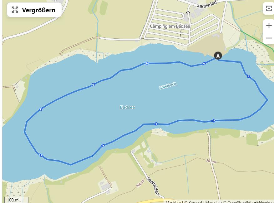 Schwimmstrecke Badsee