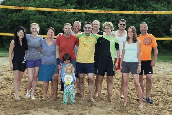 Beachvolleyball-Gruppe